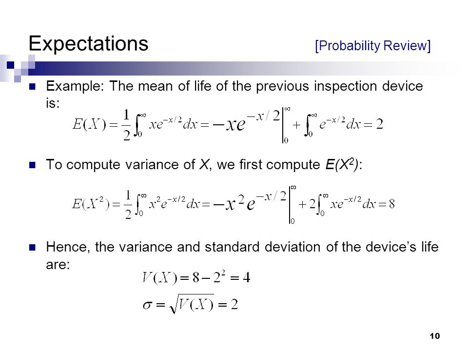 Expectations [Probability Review]